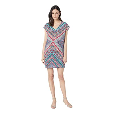 Tolani Trinity Tunic Dress (Chevron) Women