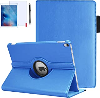 iPad Pro 10.5 Case, iPad Air 3 Case with Pencil Holder with Screen Protector and Stylus, 360 Degrees Rotating, Hand Strap, Auto Wake/Sleep for iPad Air 3rd Generation Case (Sky Blue)