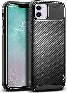 J&D Case Compatible for iPhone 11 Case, [Carbon Fiber Pattern] [Drop Protection] Shock Resistant TPU Slim and Anti-Scratch Case for iPhone 11 Bumper Case - [Not for iPhone 11 Pro/iPhone 11 Pro Max]