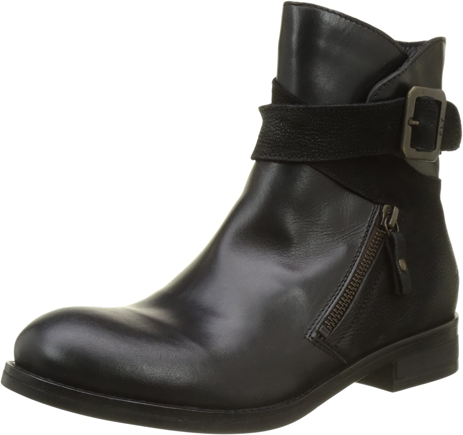 Fly London Afar - Black Rug Cupido (Leather) Womens Boots