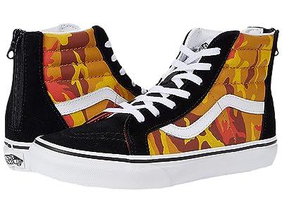 Vans Kids SK8-Hi Zip (Big Kid) ((Desert Camo) Multi/True White) Boys Shoes