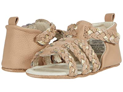 Robeez Rae Mini Shoez (Infant/Toddler) (Nude/Gold) Girls Shoes