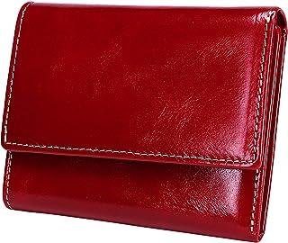 Itslife Slim Minimalist Front Pocket RFID Blocking Leather Wallets for Women (Red)