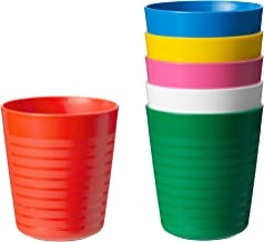 IKEA Kalas 304.212.97 BPA-Free Tumbler, Multi Colors, 6 Count, Set of 6 Cups
