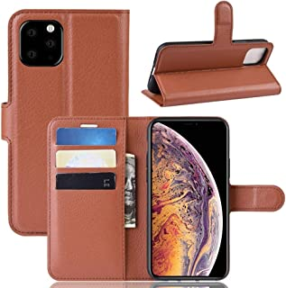 Protect Your Phone, Litchi Skin PU Leather Wallet Stand Mobile Casing for iPhone XI Max (2019) for Cellphone. (Color : Brown)