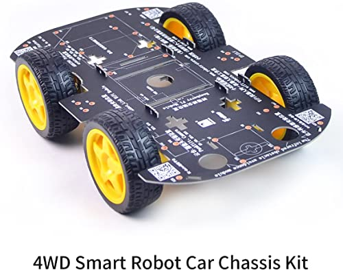 4WD Robot Chassis Kit with 4 TT Motor for UNO R3/Mega 2560/Raspberry Pi/Jetson Nano
