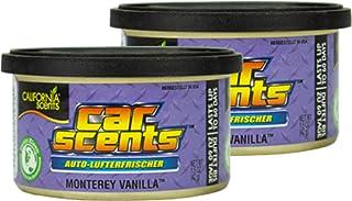 2X California Scents Car Scents Monterey Vanilla Lufterfrischer Raumerfrischer Autoduft 7026