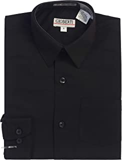 Gioberti Boys Long Sleeve Solid Dress Shirt