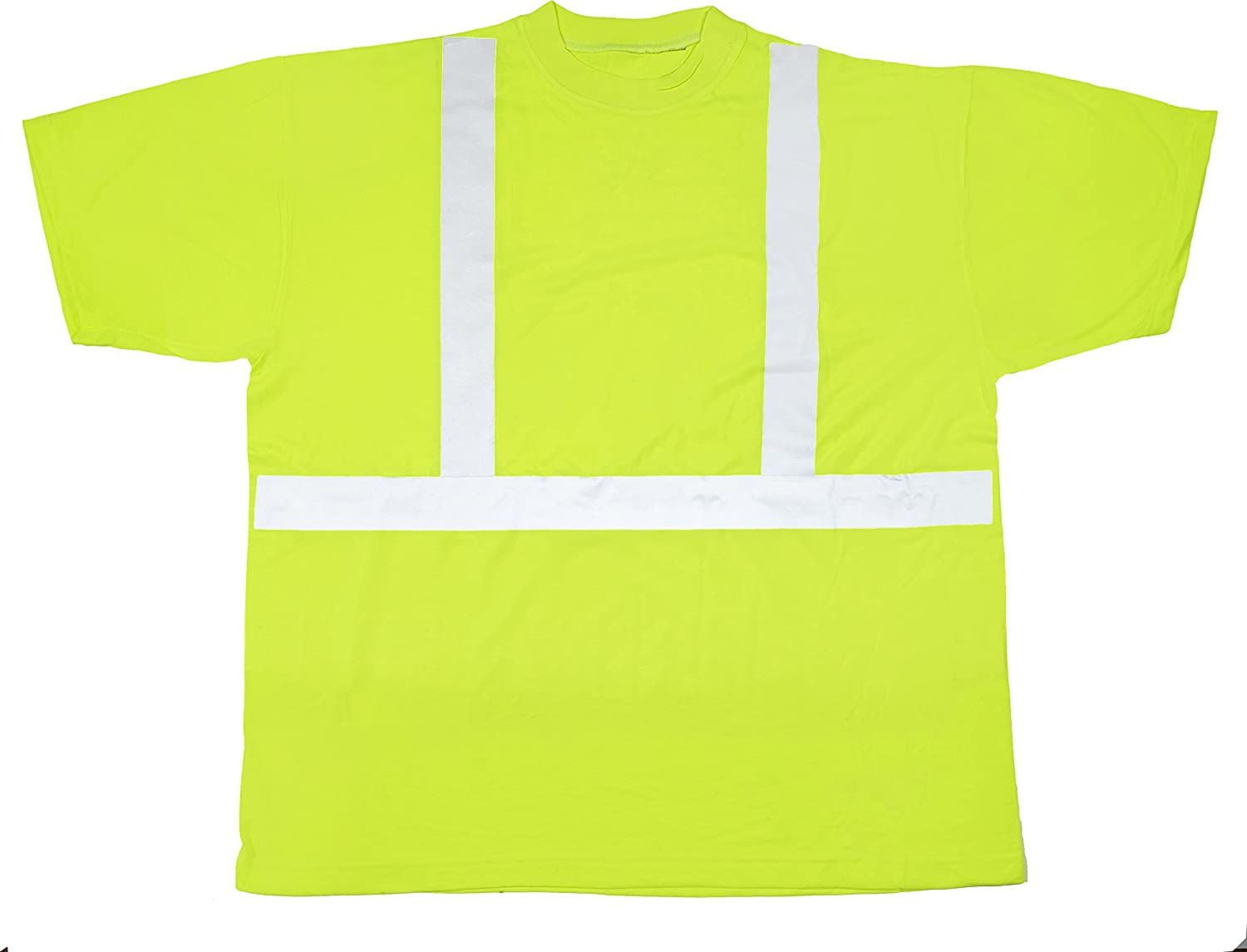 - Mutual 16355 High Visibility Polyester ANSI Class 2 2 2 Safety Tee Shirt with 2  Reflective Silver Stripes, 3X-Large, Lime 9d96ba