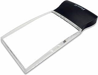 Lupe Lesehilfe Leselupe Handy-Optik Schwarz Grau 4 LED Lampen mit stabiler Hülle