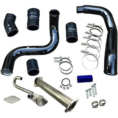 GXP Turbo Intercooler CAC Pipe /& Boot Kit Compatible with 2003-2007 Ford 6.0L Powerstroke Diesel