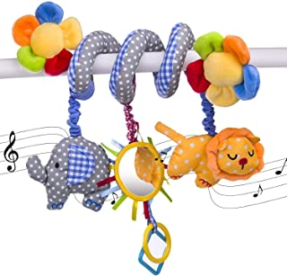 Elephant Lion with Mirror Bell Baby Music Bed Hanging Cribs Toy-Baby Children Twisty Curly Pram Pushchairs Car Seat Cot To...
