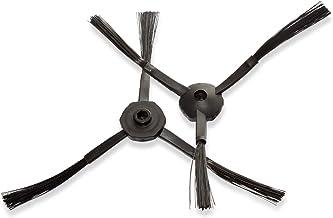 vhbw 2X Ersatz Seitenbürste passend für Medion MD18500, MD18501 Saugroboter - Reinigungsbürsten Set, schwarz