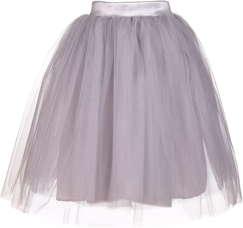 AOMEI ALine Tulle Mesh Lolita Skirts for Women