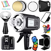 Godox AD600BM Bowens Mount 600Ws GN87 1/8000s HSS Outdoor Flash Strobe Studio Monolight with X1T-C Wireless Trigger Transmitter Compatible for Canon Cameras &32x32inch Softbox&Standard Reflector&Snoot