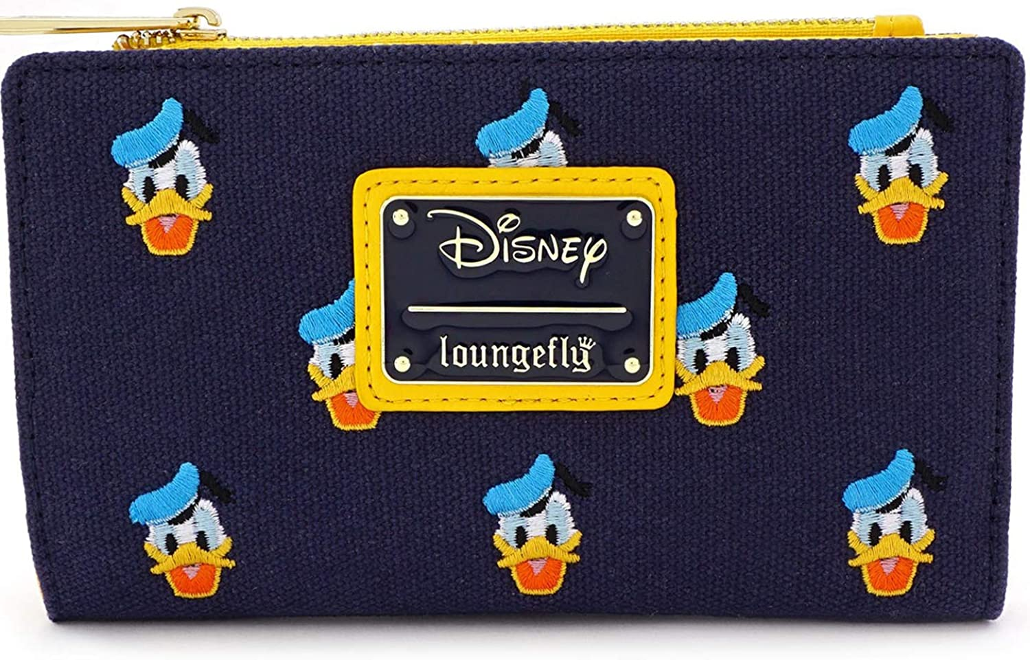 Loungefly x Disney Donald Duck All-Over Print Embroidered Canvas Zip Wallet