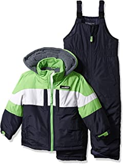 London Fog Big Boys' 2-Piece Colorblock Snow Bib and Jacket Snowsuit