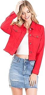 Kendall & Kylie Women's Juniors So Rad Frayed Denim Jacket