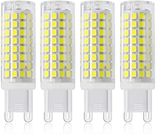LED G9 Bulbs,G9 LED 7W Equivalent 75W Halogen Bulb, Dimmable G9 Bi-Pin Base AC 120V 730lm 360 Beam Angle for Ceiling Fans,Chandeliers,Track Lighting(Pack of 4) (Daylight White)