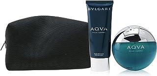 BVLGARI Aqva For Men Eau De Toilette, 100 ml+100 ml Asb+Pou(Soft Box) Set