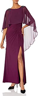 Women's Chiffon Capelet Jersey Gown