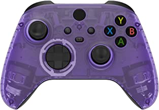 eXtremeRate Clear Atomic Purple Replacement Part Faceplate, Housing Shell Case for Xbox Series S & Xbox Series X Controlle...