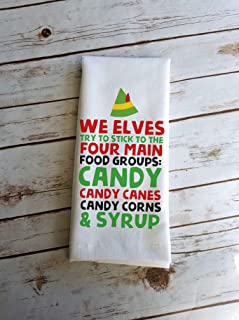 Funny Holiday Kitchen Bathroom Elf Home Decor Gift Food Group