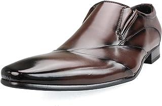 [エムエムワン] 撥水加工 低反発インソール ビジネスシューズ メンズ ロングノーズ 紳士靴