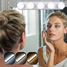 Cosmetische spiegel draagbare lampen, 5 LED spiegellamp met USB, 3 kleurmodi make-up licht, spiegellamp, make-up lamp voor...