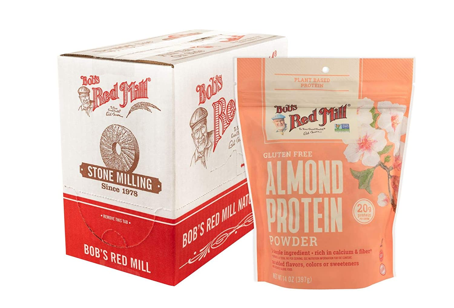 Bob's Red Mill Almond Protein 14-ounce 2021 spring and summer new 4 of Brand new Pack Powder