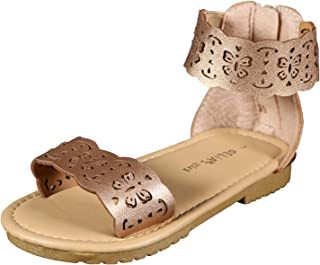 1713d6157266 dELiAs Girls Gladiator Style Sandals with Metallic Perforated Butterfly  Details (Little Kid Big Kid