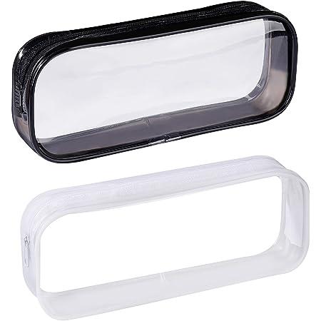 5 Pezzi Astuccio Trasparente,Sacchetto di Matita Impermeabile Astuccio Trasparente con Grande Capacit/à 21x4x7.4cm per Sacchetto Matite Borsa Trucco