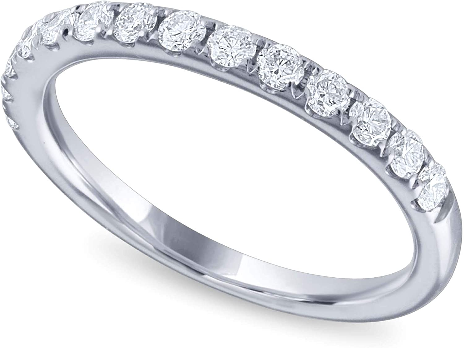 1 2 Carat Round Diamond Ring Band Gold Reservation SEAL limited product ct White I1 14k in H-I