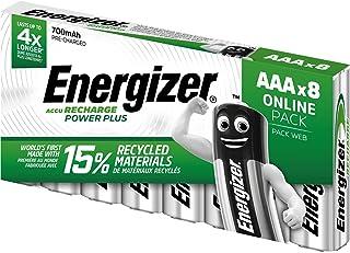 Energizer Pilas AAA Recargables, Power Plus, Paquete de 8 Unidades (El paquete puede variar)