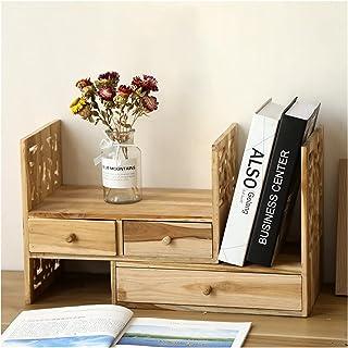 Dongxiao Bibliothèque de Bureau Organisateur Stockage avec étagère de Rangement Tireuse étagère Tabletop Organisation Rése...