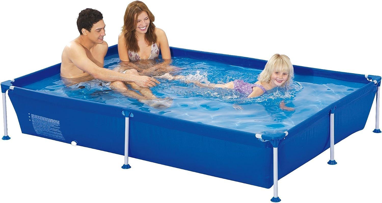 Jilong Familien Pool XL Blau 228x159x42 Stahlrahmen Schwimmbecken Garten Schwimmbad Planschbecken