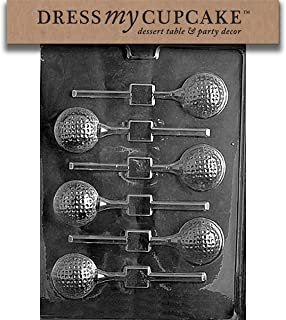 Dress My Cupcake Chocolate Candy Mold, Golf Ball Lollipop