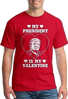 Threadrock Men's Trump My President is My Valentine T-Shirt