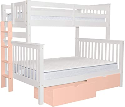 Amazon Com Bedz King Stairway Bunk Beds Twin Over Full With 4