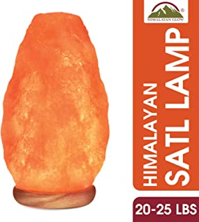 Himalayan Glow 1005 Large Natural Pink, Night Light,Hand Carved Crystal Wooden Base,Salt Lamp Bulb,(ETL Certified) Dimmer Switch | 20-25 LBS, XXXL Jamboo