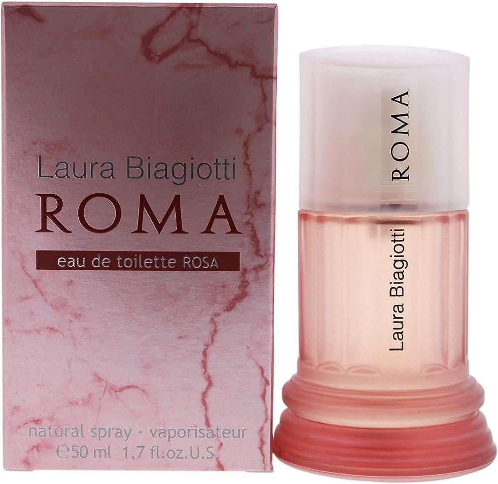 Laura biagiotti,roma, eau de toilette rosa ,da donna,50 ml 10009266