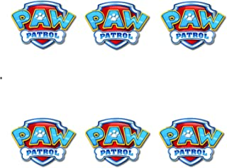 Paw Patrol Logo Sheet Edible Photo Birthday Cake Topper Frosting Sheet Party for 3 inch Round for CupCake/Cookie