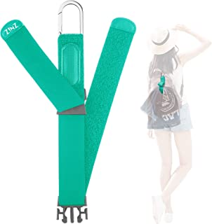 Add A Bag Luggage Strap Jacket Gripper, ZINZ D-ring Hook Baggage Suitcase Straps Belts Travel Accessories - Light green