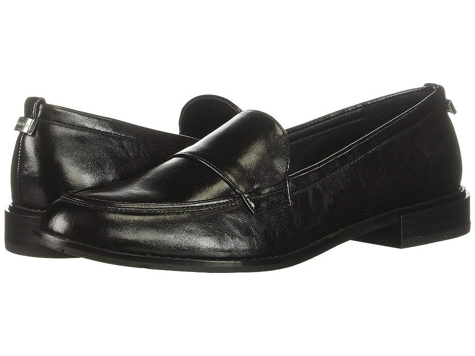 d17a1f86b0e Calvin Klein Amaya (Black Varnished Crackled) Women s Shoes