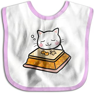 UBCATDESA Cute cat Baby Bibs, Unisex Baby Soft Cotton Easily Clean Teething Bibs(Blue&Pink)