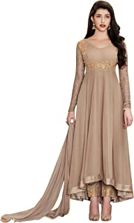 Ethnic Yard Faux Georgette Semi Stitched Salwar Suit Gowns