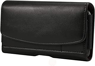 Heavy Duty Horizontal Faux Leather Phone Belt Clip Case Holster Pouch with Card Slot for iPhone 11, XR/Samsung Galaxy S10, S9 S8 / LG V35 ThinQ, K40, G6 / Motorola Moto G6, E5 Play/Google Pixel 3a