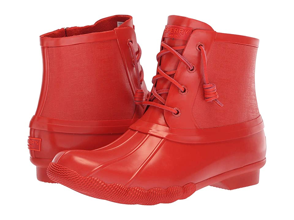 Sperry Saltwater Rubber Flooded (Red) Women