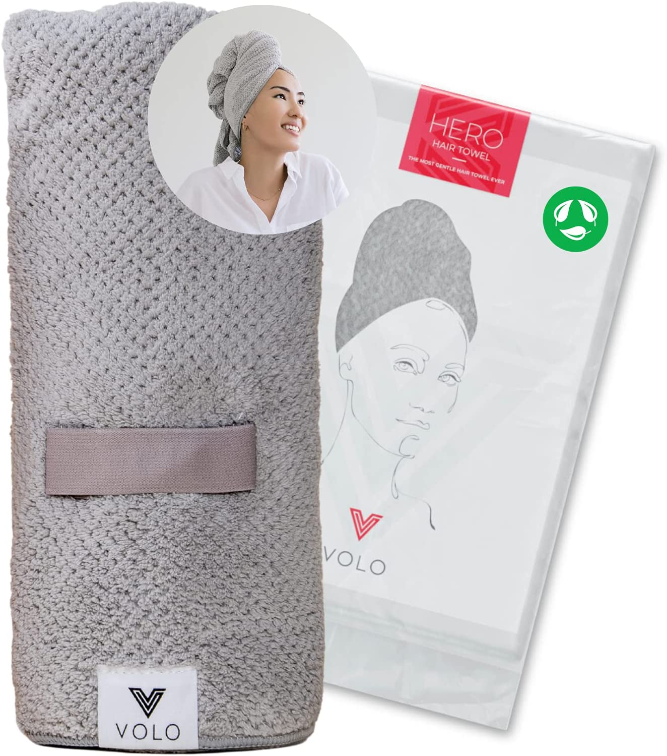 VOLO Hero Microfiber Hair Towel Super Outstanding Fa Ultra-Soft New life Absorbent