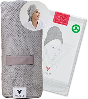 VOLO Hero Microfiber Hair Towel | Super Absorbent, Ultra-Soft, Fast Drying | Reduce Dry Time by 50% | Large, Premium Wrap ...